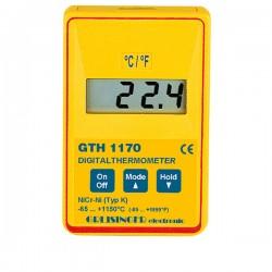 Termómetro de precisão e resposta rápida Greisinger GTH1170