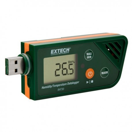 new usb humidity temperature datalogger extech rht30 - Temperature Data Logger