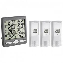 Klima-Monitor wireless thermo-hygrometer inclusive 3 transmitters TFA 30.3054.10