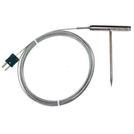 Sonda de alta temperatura em aço inoxidável em T tipo T TME Thermometers TP12
