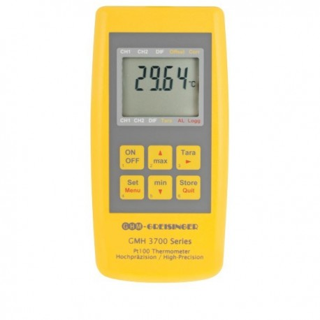PT100 high-precision thermometer for plug-in PT100 probes Greisinger GMH 3710