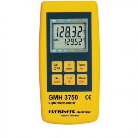 PT100 high-precision thermometer for plug-in PT100 probes with datalogger function Greisinger GMH 3750