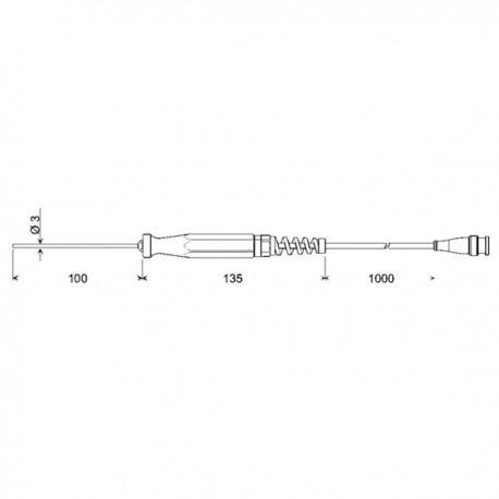 PT1000 Immersion probe Greisinger GTF175-BNC