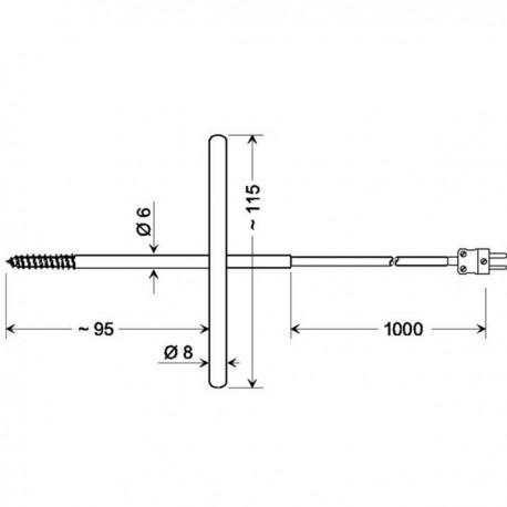 Corkscrew temperature probe GGF200