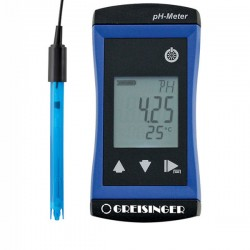 Precise pH/ Redox and temperature measuring device incl. pH-electrode Greisinger G1501
