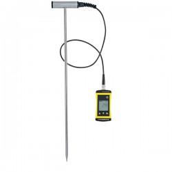 Termómetro de solo com sonda robusta em T em aço inoxidável Greisinger SoilTemp1700