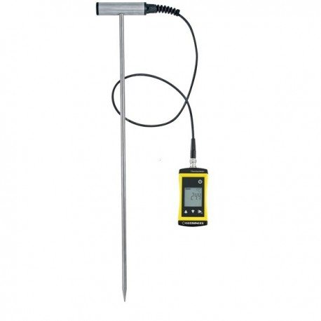 Precise universal thermometer with combined extremely robust T-handle probe made of stainless steel Greisinger SOILTEMP1700