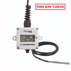 Temperature datalogger T-Logg 100-E with external probe with display and EN 12830 Approval from Greisinger