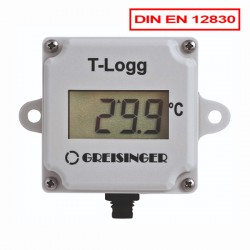 Temperature datalogger T-Logg 100 with internal probe with display and EN 12830 Approval from Greisinger