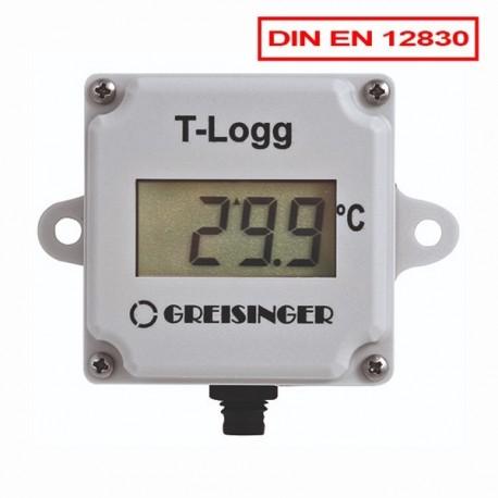 Datalogger de Temperatura T-Logg 100 com sonda interna Aprovado pela Norma EN 12830 da Greisinger