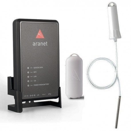 Set Wireless temperature and humidity 24/7 monitoring Aranet