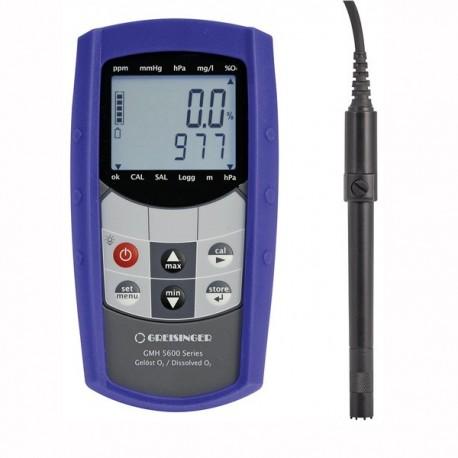 Medidor de Oxigénio Dissolvido (DO) de elevada precisão Greisinger GMH 5630-L02