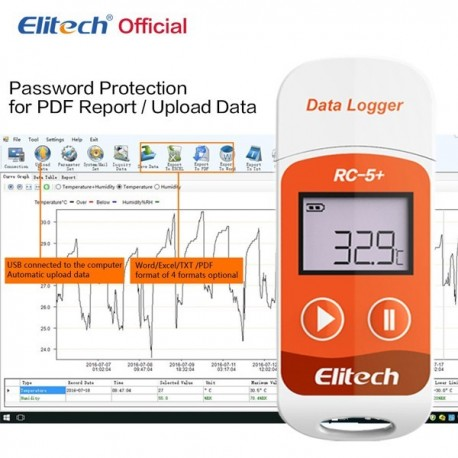 PDF USB Temperature Data logger 32000 Points Elitech RC-5+