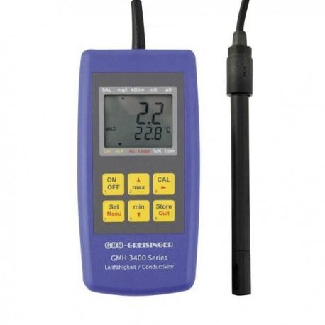 Medidor de Condutividade, Salinidade, Resistividade e TDS Greisinger GMH3431