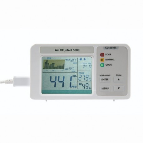 AirControl 5000 CO2 instrument with data logger Dostmann 5020-0111