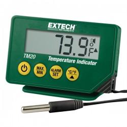 Termómetro digital com alarme e funções máx/min para refrigeração e congelação Extech TM20