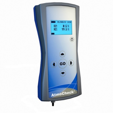Residual oxygen levels in inert gas packaging AtmoCheck One