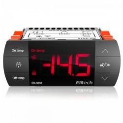 Controlador de temperatura, controle, descongelação e ventilação Elitech EK-3030