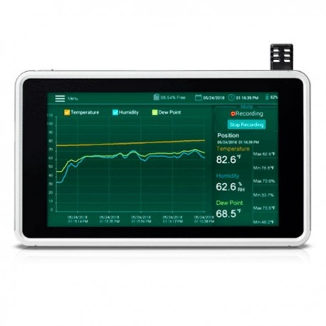 Humidity and Temperature Chart Recorder with Touch Screen Extech RH 550