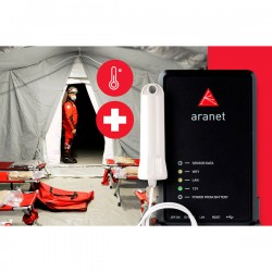 Monitorização de temperatura corporal sem fio para hospitais de campanha Aranet TDSPTK01