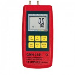 Manómetro digital medição -1,00 até +25,00 mbar Greisinger GMH 3181-01