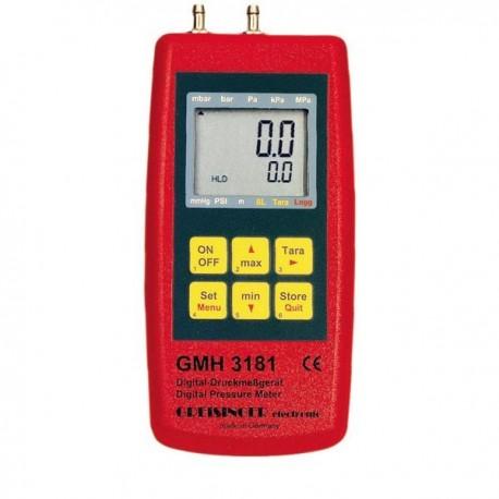 Digital Manometer measuring -1.00 to +25.00 mbar Greisinger GMH 3181-01