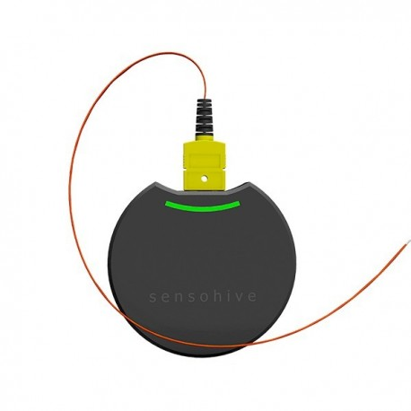 Wireless temperature sensor with type K thermocouple connector Sensohive Orbit K