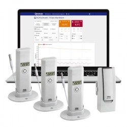 Monitorização Wireless de Temperatura Gateway + 3 Transmissor WeatherHub TFA 31.4010.02