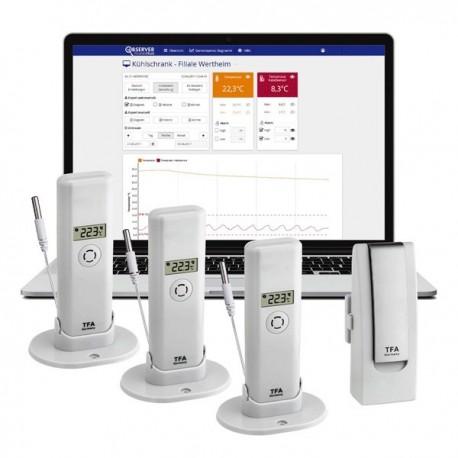 Wireless Temperature Monitoring Gateway + 3 Transmitter WeatherHub TFA 31.4010.02