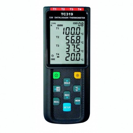 TC 319 4-channel Thermocouple Instrument with Data Logger Function Dostmann 5020-0319