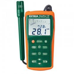 Datalogger de Temperatura e Humidade, ponto de orvalho e bolbo húmido Extech EA25