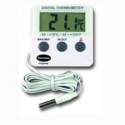 Termómetro digital com alarme e funções máx/min para refrigeração e congelação Brannan 22/420/3
