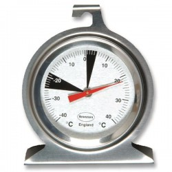 Stainless steel fridge/freezer thermometer with 50 mm dial Brannan 22-402-2
