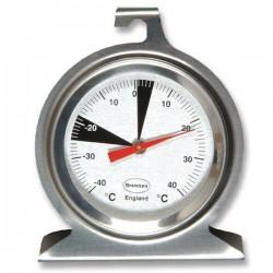 Termómetro analógico para refrigeração ou congelação em aço inoxidável Brannan 22-402-2