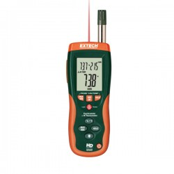 Psychrometer with InfraRed Thermometer Extech HD500