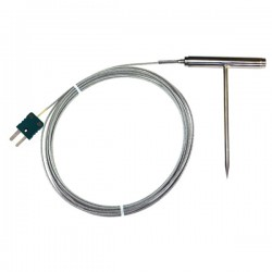 Oven temperature T- bar handle probe in stainless stell type K TME KP12