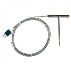 Sonda de alta temperatura em aço inoxidável tipo K TME KP12
