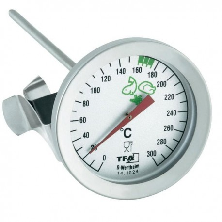 Frying thermometer in stainless steel 14.1024