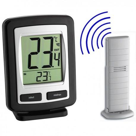 Termómetro digital de medição de temperatura interior e exterior sem fios TFA 30.3040.IT