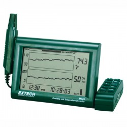 Humidity and Temperature Chart Recorder with Detachable Probe Extech RH520A-220