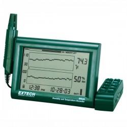 Registador de Temperatura e Humidade com sonda destacável Extech RH520A-220
