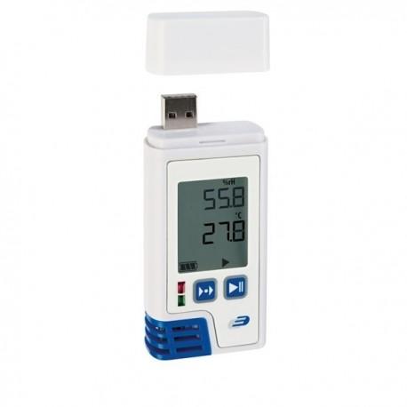 Registador/Datalogger de temperatura e humidade com visor e impressão em PDF Dostmann 5005-0210