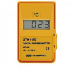 Termómetro de resposta rápida para sondas tipo K Greisinger GTH1150