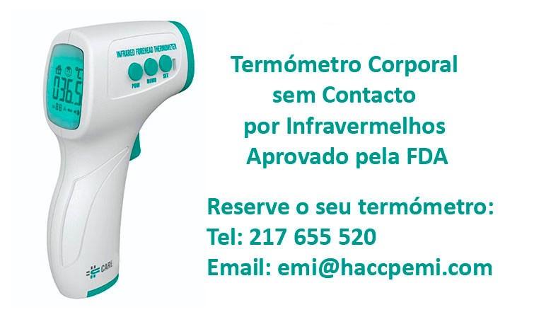 Termómetro Corporal por Infravermelhos para prevenção COVID-19