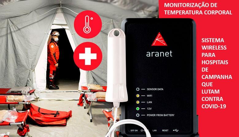 Monitorização de temperatura corporal Wireless para hospitais de campanha